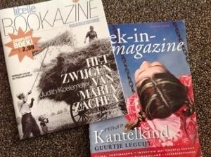 boeken in een tijdschrift