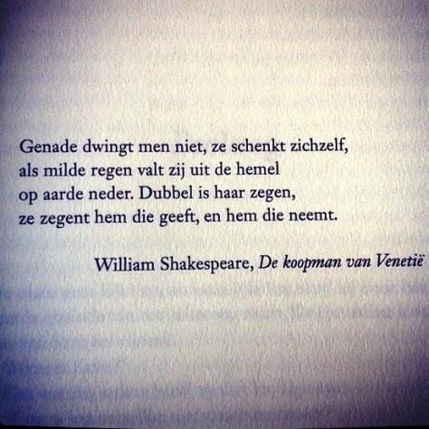 citaat genade Shakespeare