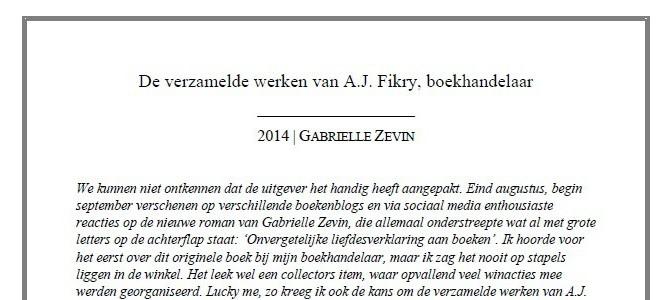 De boekliefde van 2014