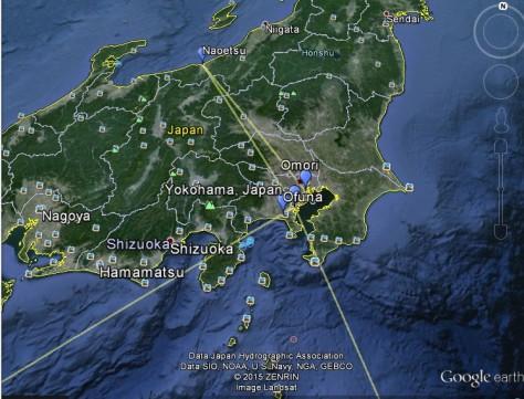 detail van google maps POW Zamperi Japan