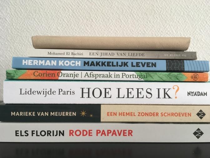 Deze 5 boeken heb ik gekocht in maart