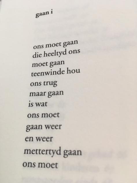 gedicht gaan i - Kamfer